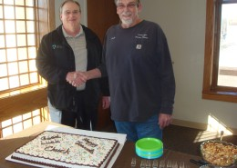 Wamego City Manager Merl Page thanks Chuck for his dedicated service